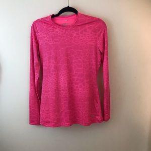 Nike Golf Neon Pink long sleeve Dri-Fit Tee